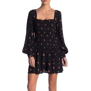NWOT Free People Two Faces Print Mini Dress Sz M